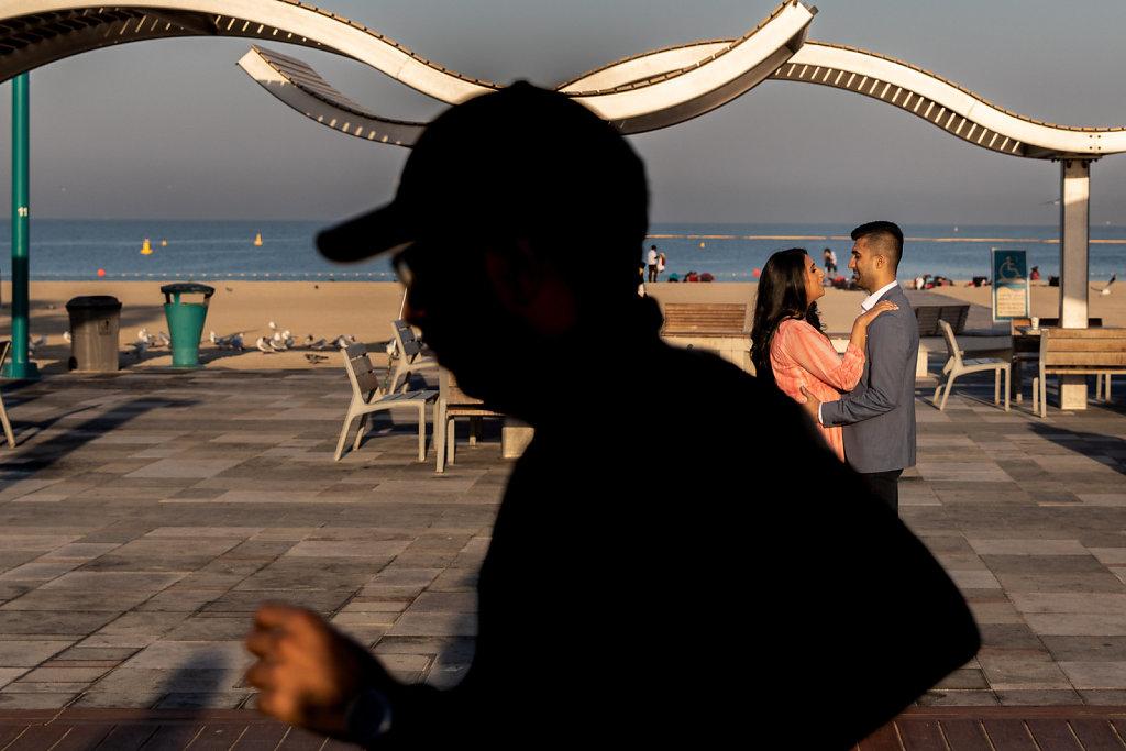 Dubai Beach Morning Pre Wedding Photoshoot