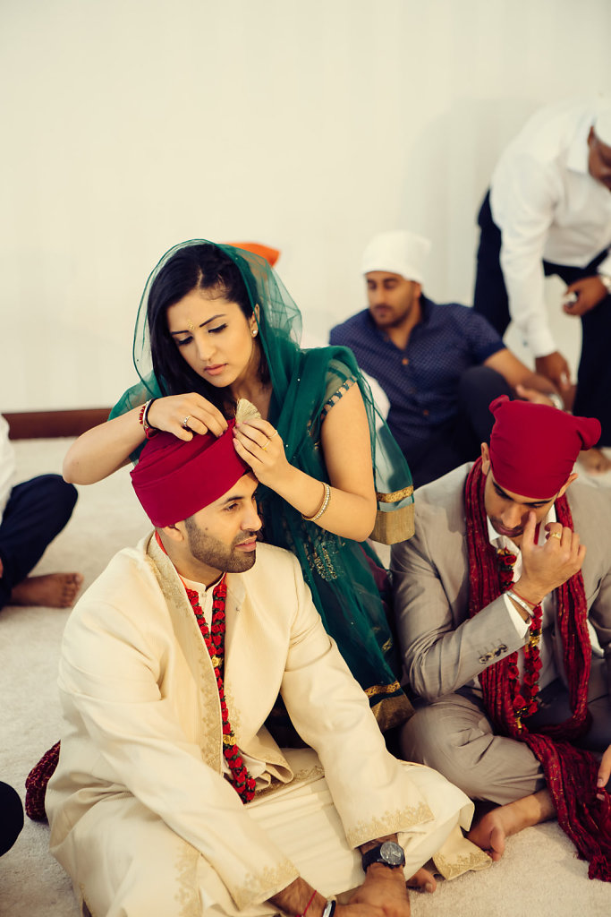 Sikh Gurudwara Dubai Wedding of Nina Ubhi and Bobby Chaggar